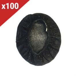 Copriauricolari monouso neri (100 unità)