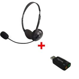 Pack: cuffie stereo con adattatore USB