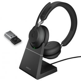 Jabra Evolve2 65 USB-A UC Stereo con base di ricarica