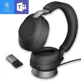 Jabra Evolve2 85 Stereo USB-A MS con supporto di ricarica