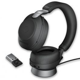 Cuffie Jabra Evolve2 85 MS stereo con supporto di ricarica