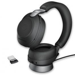 Jabra Evolve2 85 UC Stéreo USB-C con supporto di ricarica - Nero