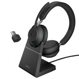 Jabra Evolve2 65 Stereo USB-C UC con supporto di ricarica
