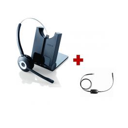 Cuffia wireless Jabra Pro 920 + Sollevatore elettronico per Polycom