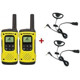 Pacchetto con 2 Motorola T92 + 2 Kit con contorno orecchio