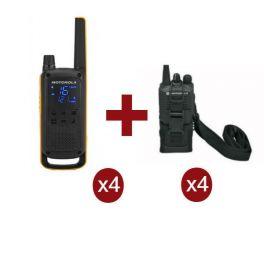 Pack Quartetto Motorola Talkabout T82 Extreme, 4x Custodie Universali