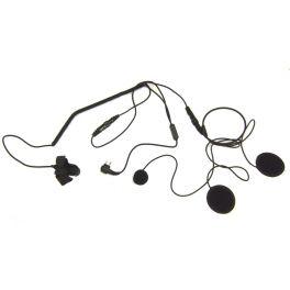 Auricolare con microfono per casco chiuso compatibile con Motorola 2 pin