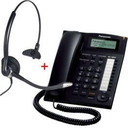 Panasonic KX-TS880 Negro + Cuffia Cleyver ODHC10 (Jack 2.5 mm)