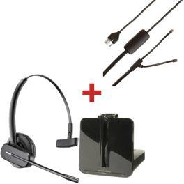 Plantronics CS540 + Sollevatore elettronico per Polycom SoundPoint IP