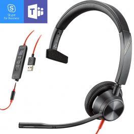 Plantronics Blackwire 3315 USB-A + Jack 3,5mm MS