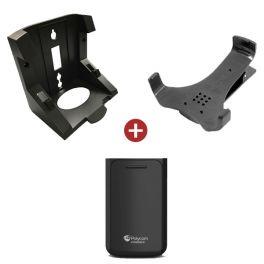 Kit accessori per telefoni Polycom VVX D60, comprendente batteria, clip da cintura e supporto da parete