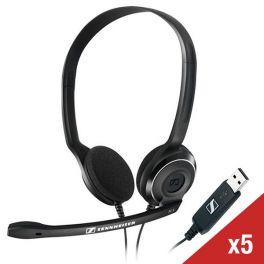 Pack X5 Cuffie Sennheiser PC 8 USB