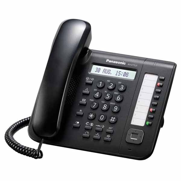 Telefono Fisso Panasonic KX-DT521 Nero