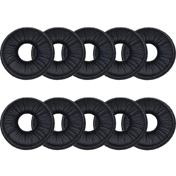 10 copriauricolari in similpelle diametro 4 cm