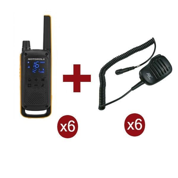 Motorola Talkabout T82 Extreme x6 + Microfoni levalier x6