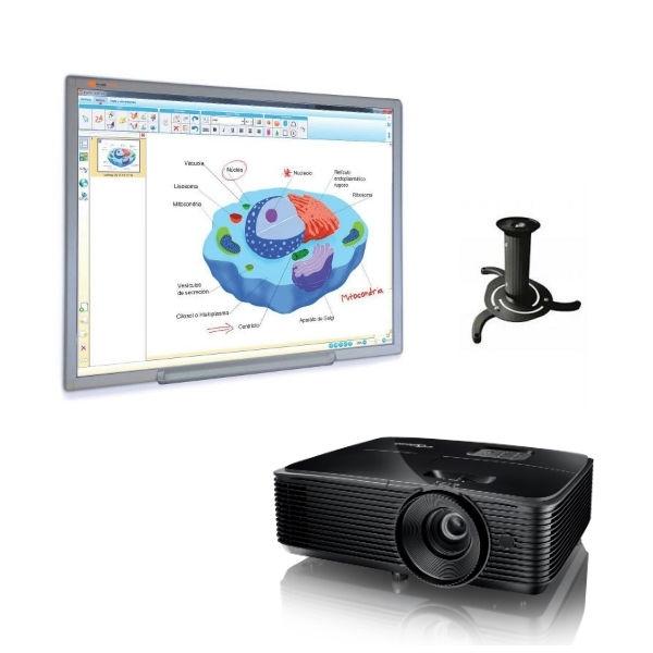 Pack Lavagna MCI780 + proiettore + supporto soffitto