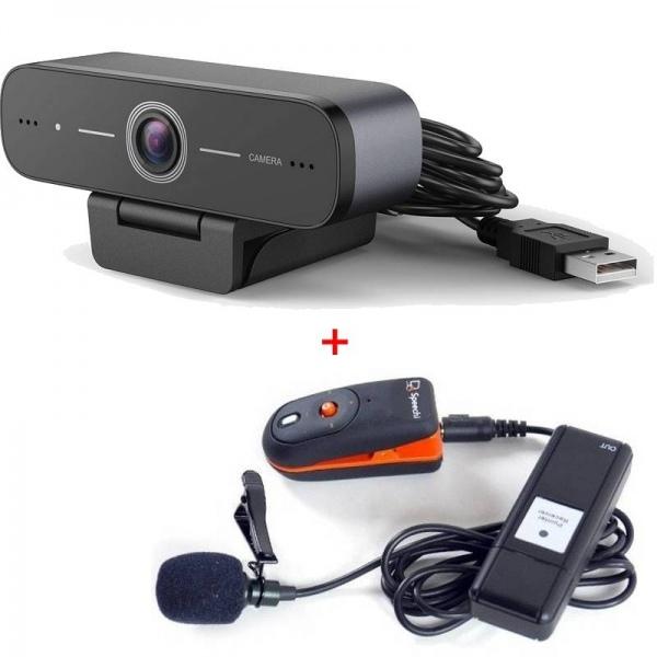 Webcam USB HD con microfono senza fili Speechi
