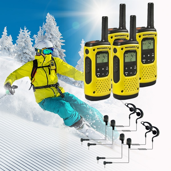 Pack Ricetrasmittenti: 4 Motorola T92 H2O + 4 Auricolari