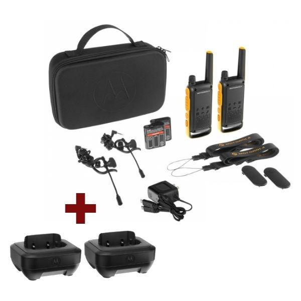 Pack Motorola TLKR T82 Extreme + 2 basi ricarica