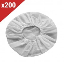 Copriauricolari monouso bianchi (200 unità)