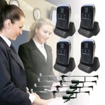 Pack 4 Ricetrasmittenti Dynascan 1D + 4 Kit bodyguard