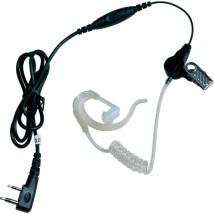 Kit auricolare trasparente PTT per Kenwood