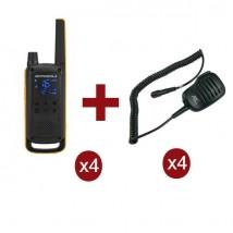 Motorola Talkabout T82 Extreme x4 + Microfoni levalier x4