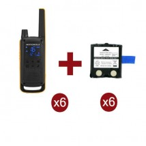 Motorola Talkabout T82 Extreme x6 + Batterie di ricambio x6