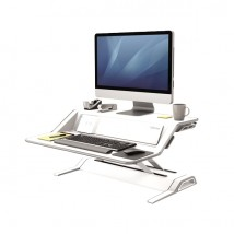 Workstation Sit-Stand Lotus DX Fellowes - Bianco