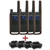 Pack Quartetto Motorola T82 + 4 basi di carica