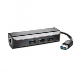 Kensington Adattatore Ethernet e hub a 3 porte UH3000E
