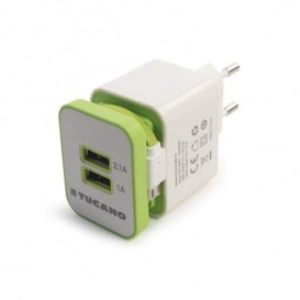 Caricabatterie 2USB/Micro-USB Tucano