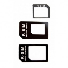 Adattatore scheda Nano Sim + Micro Sim 3 in 1