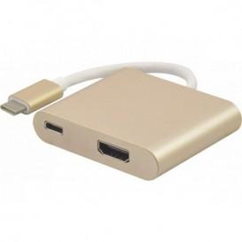 Adattatore USB-C 3.1 a HDMI + carica per type-C