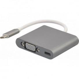 Adattatore USB-C 3.1 a VGA + carica per type-C