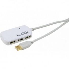 Cavo di estensione  USB 2.0 12m con hub 4 porte