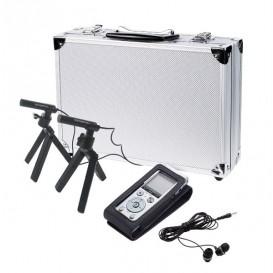 Olympus DM-720 + custodia CS150 + 2 microfoni ME-30W + cuffie E39