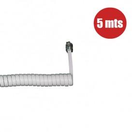 Cavo per auricolare telefonico 5m (bianco)