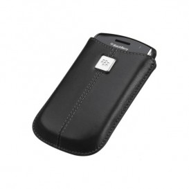 Custodia in pelle per BlackBerry Curve nera