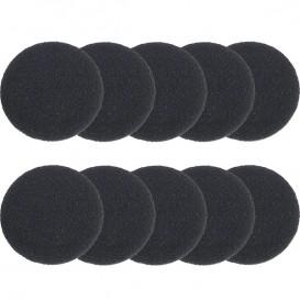 10 copriauricolari in spugna diametro 4 cm