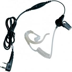 Kit auricolare trasparente PTT per Motorola