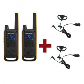 Motorola Talkabout T82 Extreme x2 + Kit Earloop x2