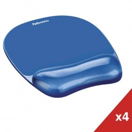 Fellowes Mousepad con poggiapolso Crystal Gel