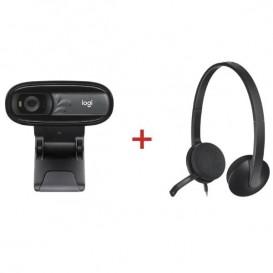 Cuffia USB Logitech H340 + Webcam Logitech C170