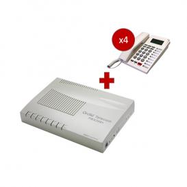 Orchid Telecom PBX 308 + 4 telefoni PK-111C