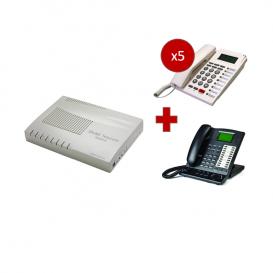 Orchid Telecom KS 416 + Telefono operatore Orchid KP 416 + 5 telefoni PK-111C