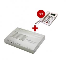 Orchid Telecom PBX 308 + 8 telefoni PK-111C