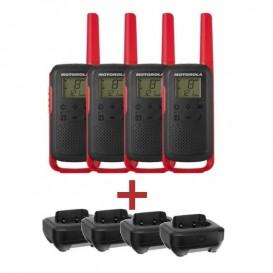 Pack Quartetto Motorola T62 + 4 basi di carica
