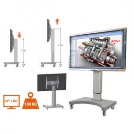 Supporto mobile regolabile in altezza per display interattivi MultiClass