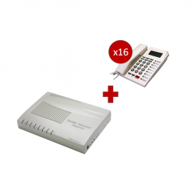 Orchid Telecom PBX 416 + 16 telefoni PK-111C